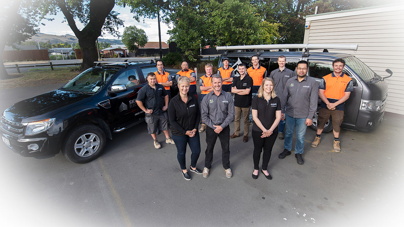 skilled electrican team photo
